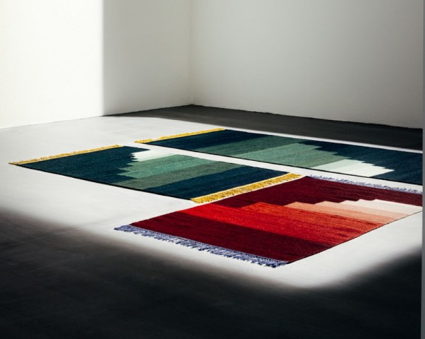 another-rug-&tradition-copenhagen-galleriamia-red-green jade-red volcano-blue thunder-yellow amber-alla the way to paris