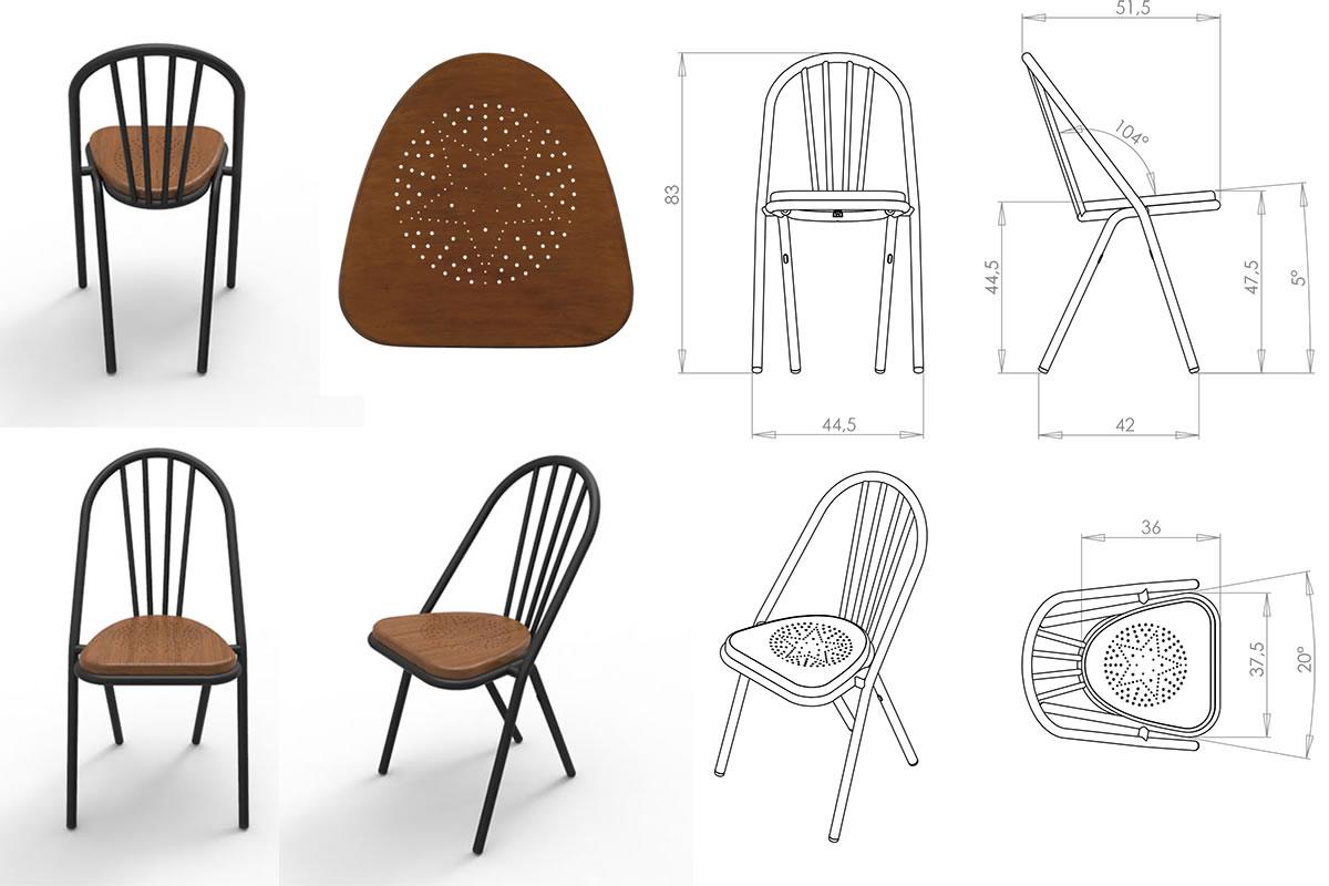sedia surpil chair di dcw ditions mia home design gallery. Black Bedroom Furniture Sets. Home Design Ideas