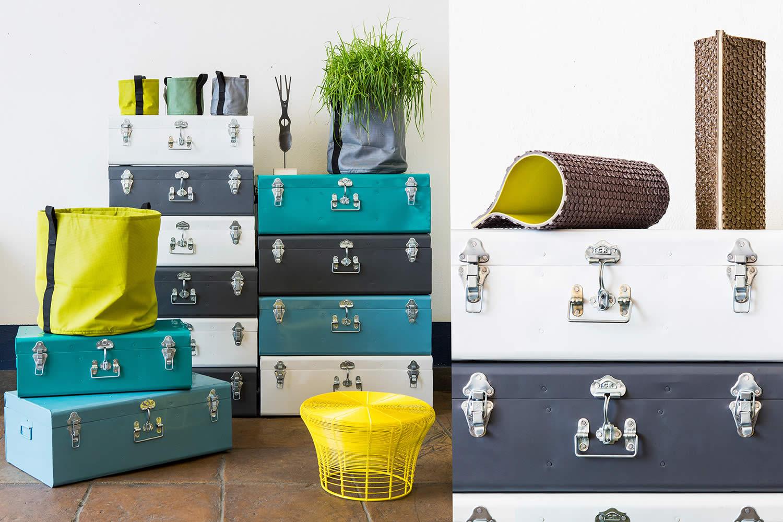 MIA Design allestimento valigie e vasi pluriball