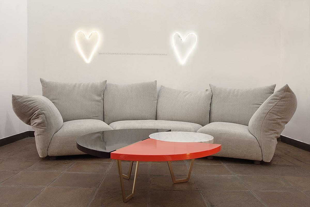 Allestimento Standard Edra From Above Murble Hagit Pincovici Neon applique