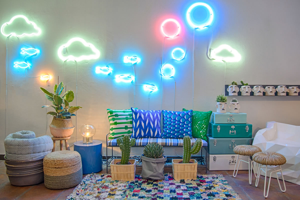 "Galleria MIA Store set-up ""Mogg – House Doctor – Bloomingville – Tribal Art – Neon"""