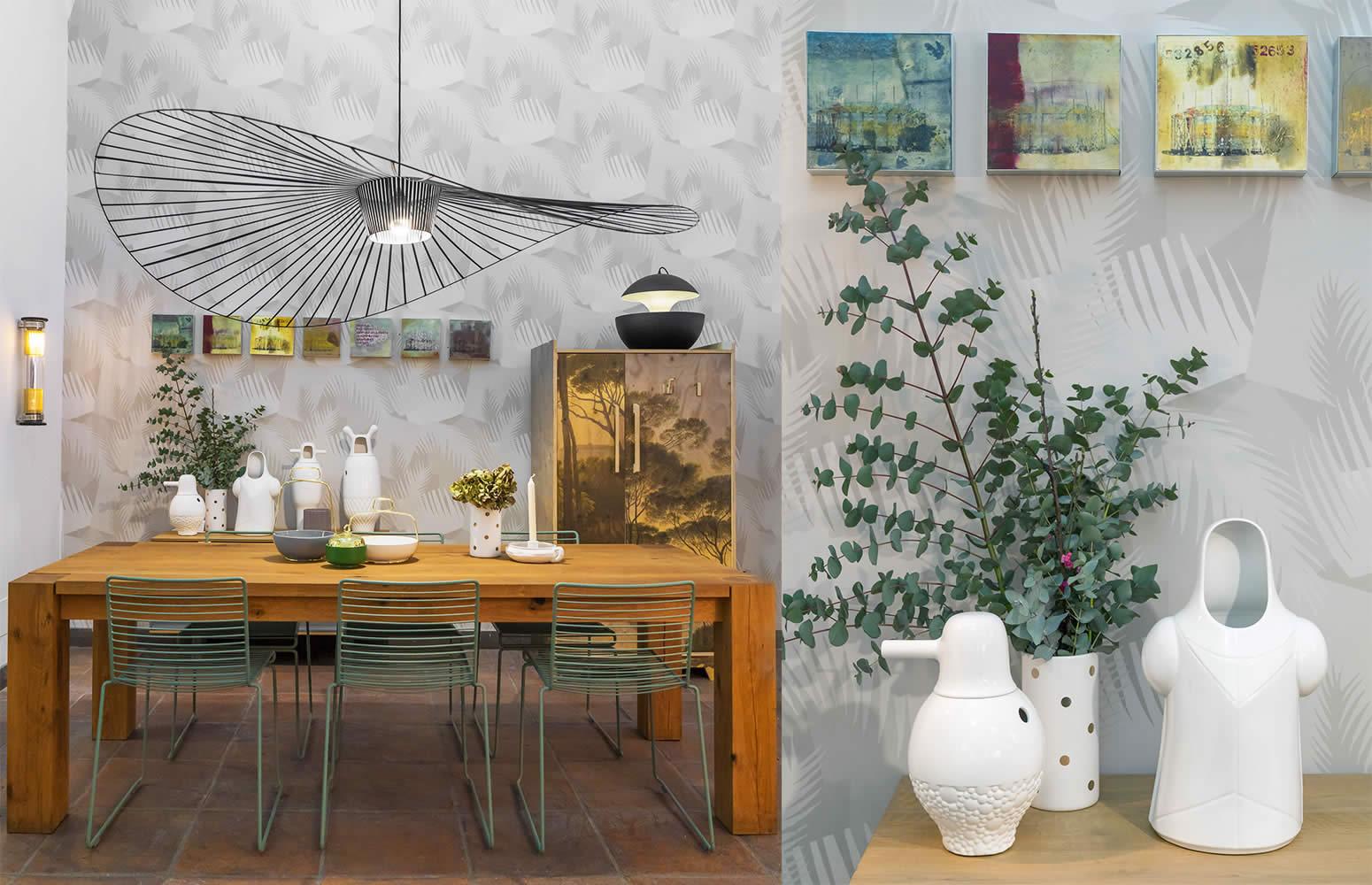 Allestimento-shop fitting Galleria Mia Roma store | Petite Friture Barcelona design Dcw e15 Hay Incipit