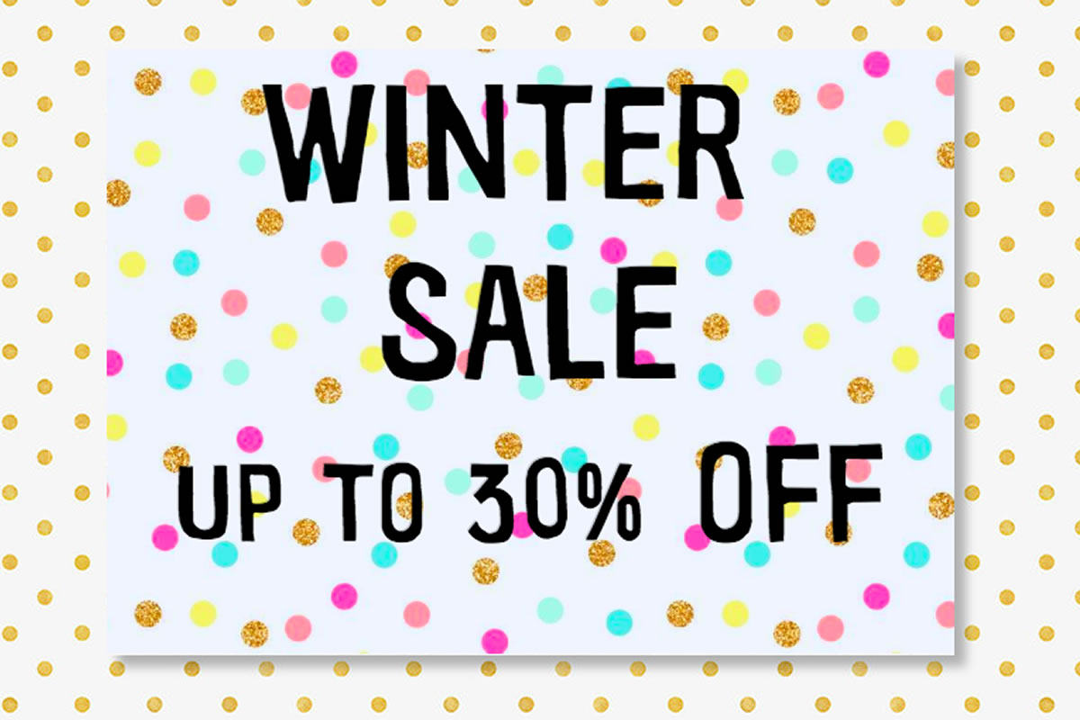 Winter Sale - Up to 30% off