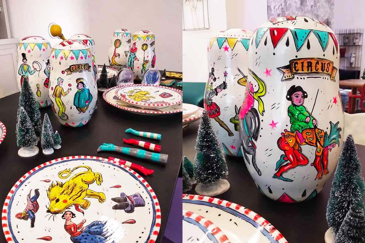 Circus Plates Collection by Stella Tasca Exclusively for MIA