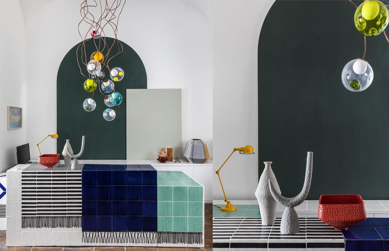 Allestimento-Shop Fitting Galleria MIA Roma store | Bocci Battuti Jieldé Hay