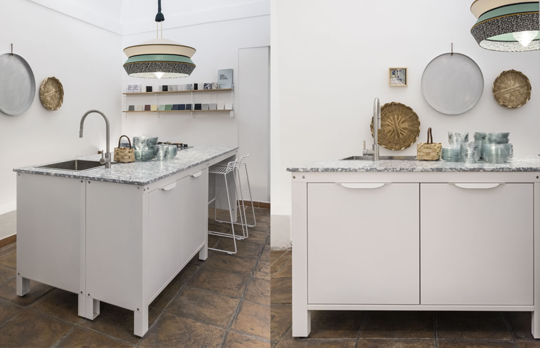 Allestimento-Shop Fitting Galleria MIA Roma store | Very Simple Kitchen Contardi KN industrie